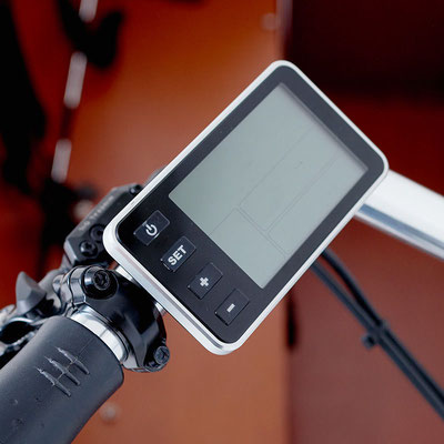 Babboe Max-E Lastenfahrrad 2020 mit intuitives Display