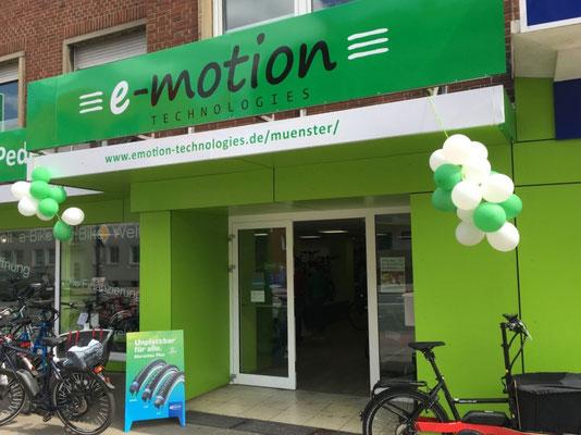 Die e-motion e-Bike Welt in Münster führt auch Riese & Müller e-Bikes