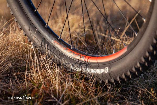 Das Corratec X Vert Pro gibt es auch mit einer Plus-Bereifung von 2,8'' breiten Reifen.