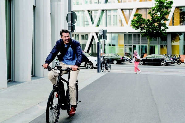 Kein Stress im Stau mit einem City e-Bike