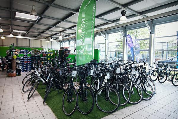 große Auswahl der e-motion e-Bike Welt Frankfurt