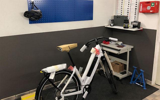 e-Bike Wartung, Inspektion und Reparatur in Ihrer Werkstatt der e-motion e-Bike Welt Oberhausen
