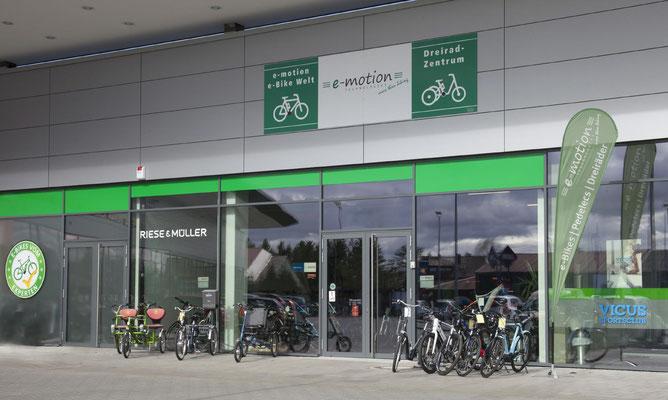 Die e-motion e-Bike Welt in Ulm führt auch Riese & Müller e-Bikes