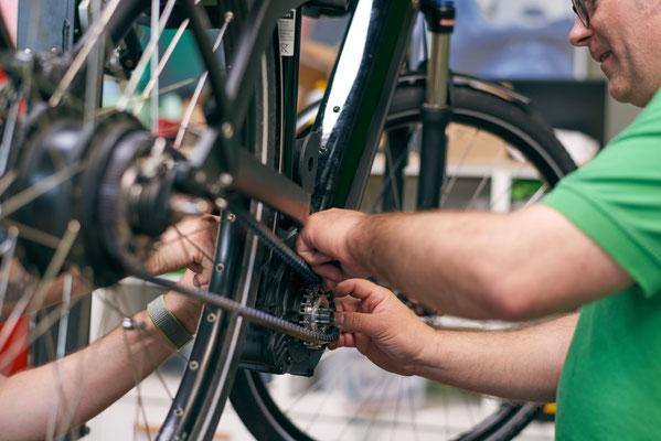 Werkstatt Service in Ihrer e-motion e-Bike Welt Münchberg