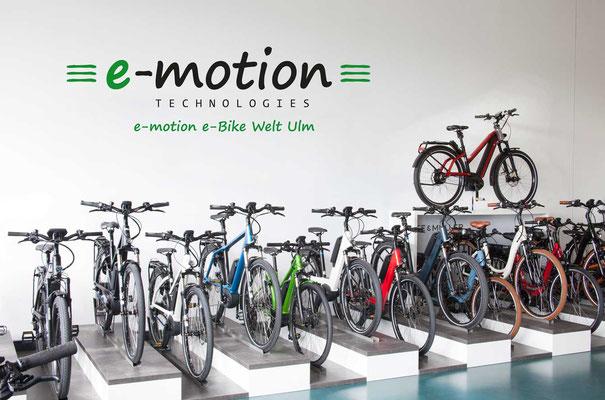 e-motion e-Bike Welt Ulm, e-Bikes, Pedelecs und Elektrofahrräder vom Experten in Süddeutschland
