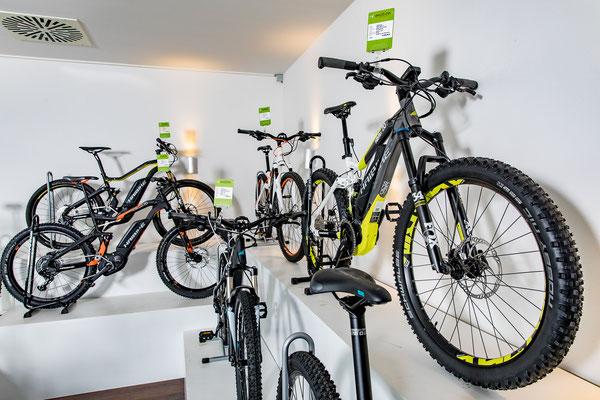 Beratung zu e-Mountainbikes in der e-motion e-Bike Welt Berlin-Mitte