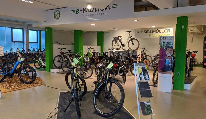 Riese & Müller Elebnis-Store in der e-motion e-Bike Welt Göppingen