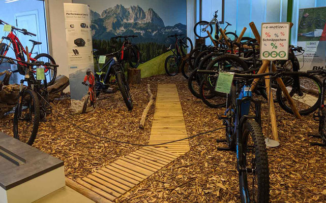 große e-Bike Auswahl und e-Bike Markenvielfalt in der e-motion e-Bike Welt Göppingen