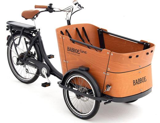 Babboe Lastenfahrrad mit Elektromotor Curve-E für den Kindertransport