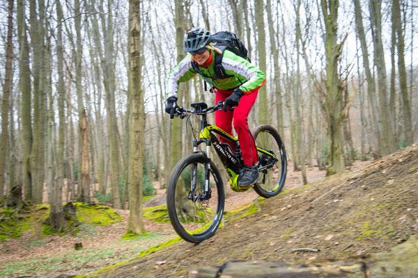 Ausflug mit einem e-Mountainbike