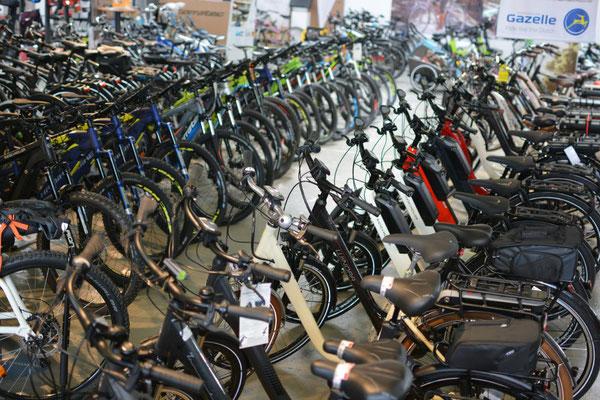 Die e-motion e-Bike Welt in Saarbrücken führt auch Riese & Müller e-Bikes