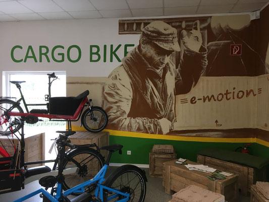 Cargo e-Bikes probefahren und kaufen in der e-motion e-Bike Welt Bremen