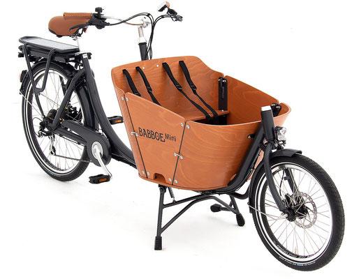 Babboe Mini- E Lastenfahrrad 2020 für den Transport von Kindern