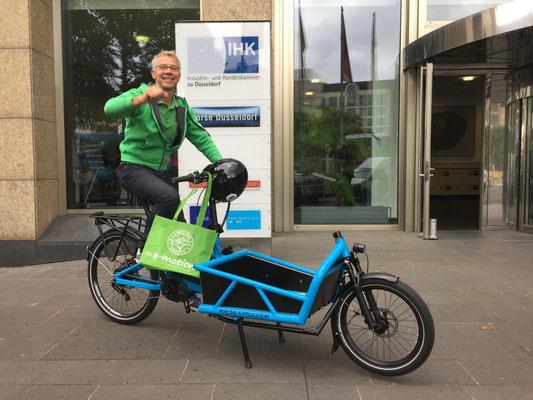 Gelungene Veranstaltung: Mit Lasten e-Bike bei der IHK Düsseldorf