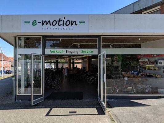 Die e-motion e-Bike Welt in Schleswig führt auch Riese & Müller e-Bikes