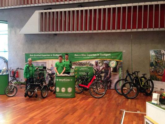"""Begeisterte Lastenrad-Fans auf der Messe """"Mein Leben"""""""