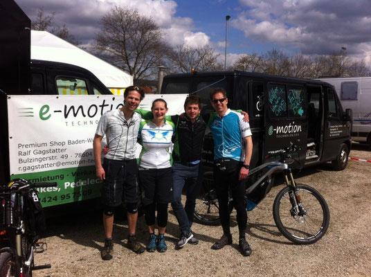 Erstes e-Mountainbike Rennen mit e-Bikes von e-motion