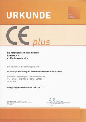 CEplus - Zertifikat