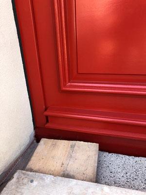 Haustür aus eigener Fertigung - Detail