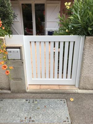 Gartentor aus eigener Fertigung - eingebaut