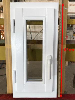 Holzfenster aus eigener Fertigung - Sondermaß 28 x 67 cm