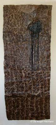 o. T. - Bütten, Stahlwolle, Schnüre, 183 cm x 72 cm x 2 cm