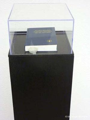 O.T., Holz, Acrylglas, Acryllack, Buch, Latex, ca. 112 x 27 x 27 cm