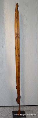 AGAPE III, Fichte, Beize, Wachs, Stahl, 205 x 10 x 9 cm