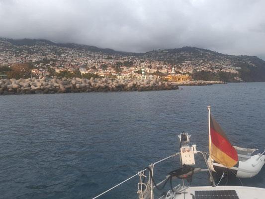 Madeira aus Ankersicht