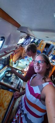 Nussecken backen auf dem Boot