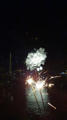 Feuerwerk von der Gemeinde