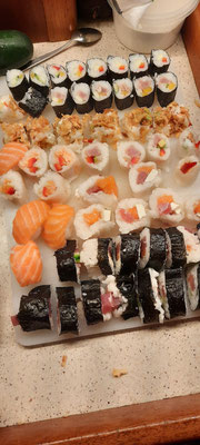 Unser erstes Sushi