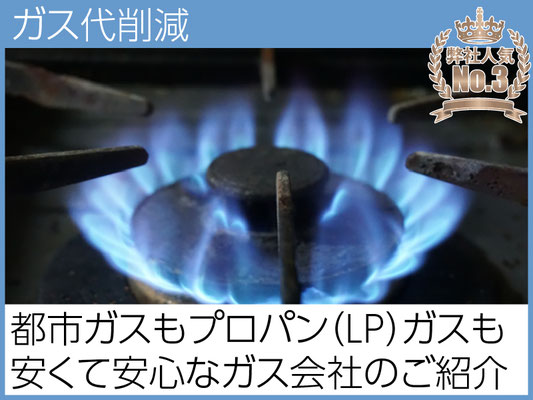 都市ガスでもLPガス(プロパンガス)でも対応可能。お客様にとって最適なガス会社をご紹介。