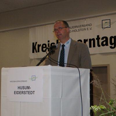 Werner Schwarz, Präsident des Landesbauernberbandes SH
