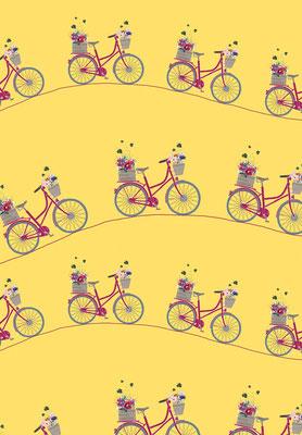 Geschenkpapier gelb, Ausschnitt