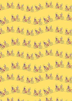 Geschenkpapier gelb