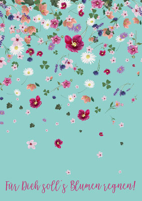 A5 Print, Blumenregen