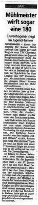 Zeitungsbericht Kreiszeitung vom 27.11.2018.