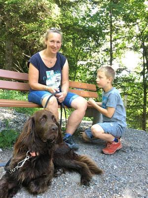 Familie Raichle: Luisa, Daniel, Lara und Susi