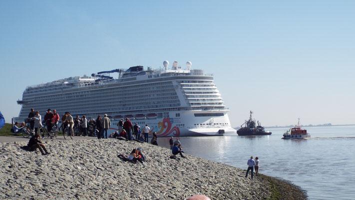 ...noch baut die Mayer Werft die größten Kreuzfahrtschiffe der Welt!