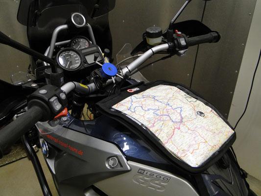 ...genau die richtige Größe für eine übersichtliche Karte mit Roadbook