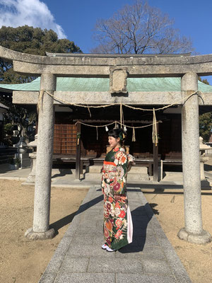 """""""Coming of Age celebration"""": Miss Mizuki was born and raised at Yashima in Kagawa prefecture where it is known from the historical battlefield in the Genpei war from the 12th century."""