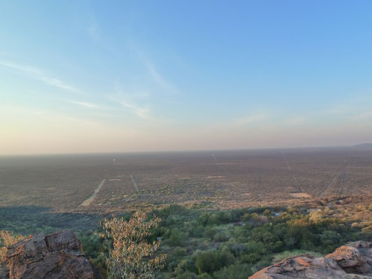 View to the savanna off the Waterberg-plateau