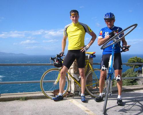 Toskana, Rennrad, Rennradfahrer, Urlaub und Meer und mehr