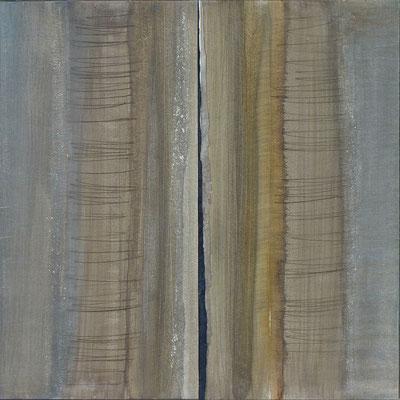 GAIA  50 x50  encres sur papier-bois