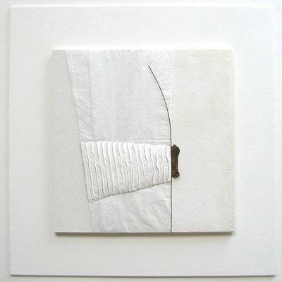 Nirmal     50x50     [papier-carton-métal]