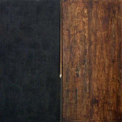 BHAVANI 80 x80  tissu-papiers-métal