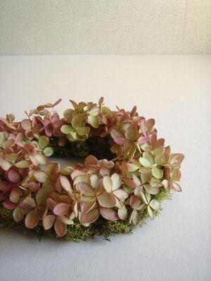 山紫陽花のリース 参考価格:¥3,000-(税抜)