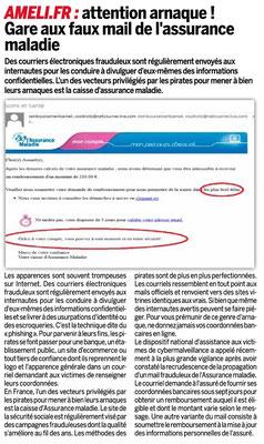 Arnaque   attention aux faux mails imitant l Assurance maladie ! -  Eponaclic - Club informatique d Appoigny 9189db0a84be