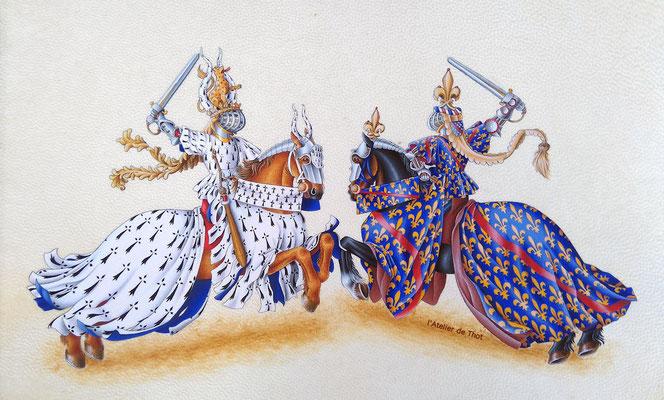 enluminure du livre des tournois du roi René d'Anjou